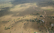 aerial photography of the grassland in Serengeti National Park, Tanzania