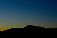 Sunset Over Mountains in the Mojave Desert