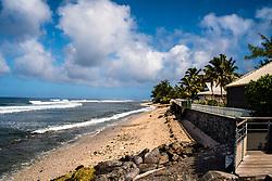 A quiet beach on the island Reunion