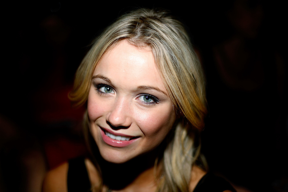 NEW YORK - SEPTEMBER 15:  Actress Katrina Bowden attends Max Azria Spring 2010 during Mercedes-Benz Fashion Week at Bryant Park on September 15, 2009 in New York City.  (Photo by Joe Kohen/WireImage)