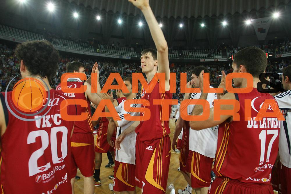 DESCRIZIONE : Roma Lega A1 2007-08 Playoff Finale Gara 4 Lottomatica Virtus Roma Montepaschi Siena <br /> GIOCATORE : Gregor Fucka Team Roma<br /> SQUADRA : Lottomatica Virtus Roma<br /> EVENTO : Campionato Lega A1 2007-2008 <br /> GARA : Lottomatica Virtus Roma Montepaschi Siena<br /> DATA : 10/06/2008 <br /> CATEGORIA : esultanza<br /> SPORT : Pallacanestro <br /> AUTORE : Agenzia Ciamillo-Castoria/M.Marchi