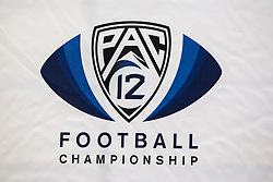 SANTA CLARA, CA - DECEMBER 05:  Detailed view of the Pac-12 logo during a press conference before the Pac-12 Championship game between the Stanford Cardinal and the USC Trojans at Levi's Stadium on December 5, 2015 in Santa Clara, California. The Stanford Cardinal defeated the USC Trojans 41-22. (Photo by Jason O. Watson/Getty Images) *** Local Caption ***