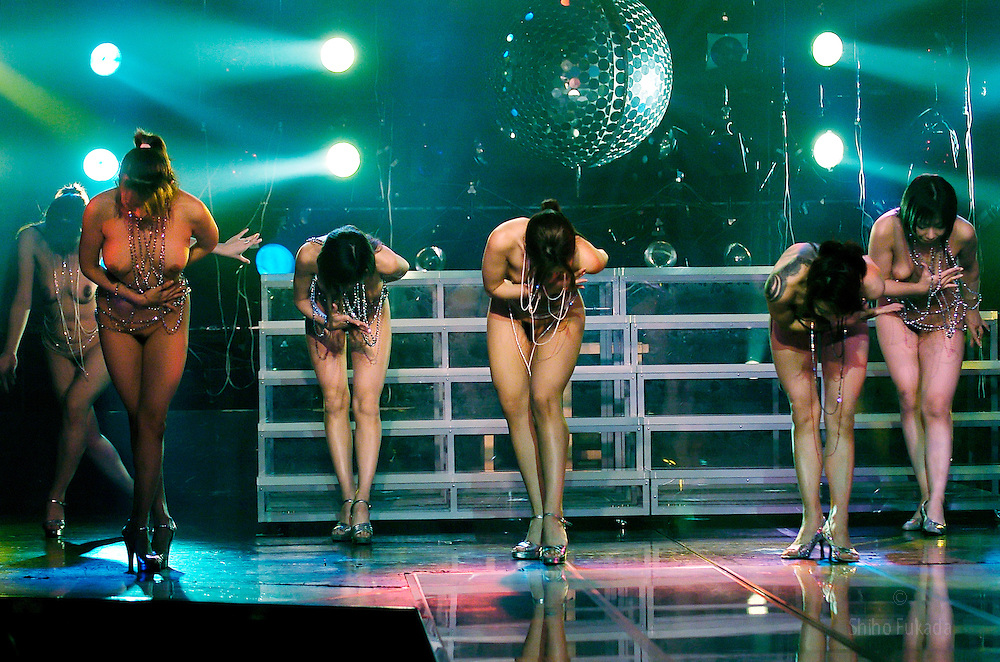Strippers perform in Tokyo, Japan May 28, 2005.