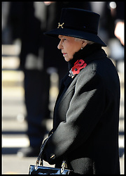 HM The Queen attends  the annual Remembrance Sunday Service at the Cenotaph, Whitehall, London, England. Sunday, 10th November 2013. Picture by Andrew Parsons / i-Images