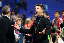May 16, 2018 - Lyon, France - Olympique de Marseille v Atletico de Madrid - Uefa Europa League Final.Diego Simeone manager of Atletico celebrates after the award ceremony at Groupama Stadium in Lyon, France on May 16, 2018. (Credit Image: © Matteo Ciambelli/NurPhoto via ZUMA Press)