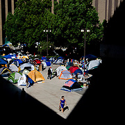 An overall view of the Occupy San Diego encampment.