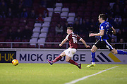 Northampton Town striker Sam Hoskins (14) scores a goal from open play (2-1) during the EFL Sky Bet League 1 match between Northampton Town and Rochdale at Sixfields Stadium, Northampton, England on 17 December 2016. Photo by Dennis Goodwin.