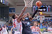 Dominique Sutton<br /> Dolomiti Energia Aquila Basket Trento - Consultinvest Victoria Libertas Pesaro<br /> Lega Basket Serie A 2016/2017<br /> Trento, 26/03/2017<br /> Foto Ciamillo - Castoria