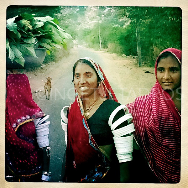 Tribal women passing by