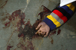 November 20, 2016 - Kanpur, Uttar Pradesh, India - Hand of a dead body's appears from the debris of derailed Indore Patna Express train. More than 100 people have been killed after 14 carriages of an Indian express train derailed in northern Uttar Pradesh state, near Pukhrayan village, some 60 kms from Kanpur. (Credit Image: © Prabhat Kumar Verma via ZUMA Wire)