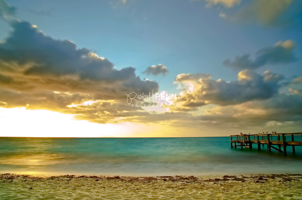 Fine art seascapes of Taino Beach board walk and beach
