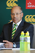 CAPE TOWN, SOUTH AFRICA - Thursday 25 April 2013, Pat Kuhn , SARU exco member during the official team announcement at SARU House, of the Springbok u/20 rugby team to represent South Africa in the IRB Junior World Championship (JWC) in France during the month of June. .Photo by Roger Sedres/ImageSA