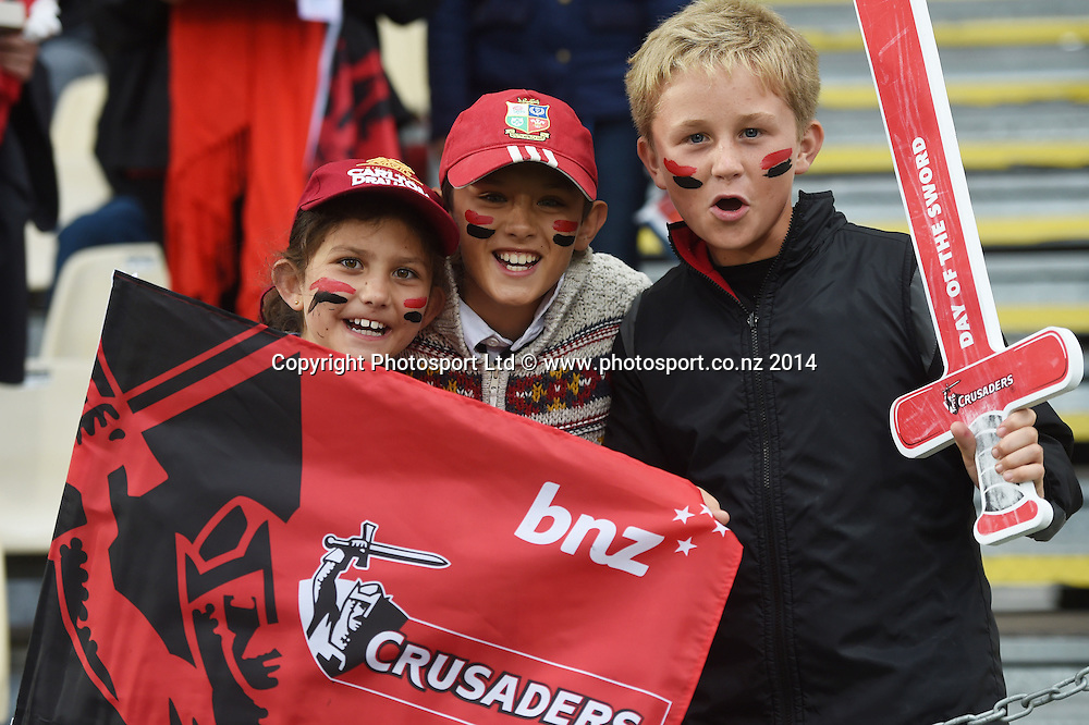 Fans. Crusaders v Rebels. Super Rugby. Christchurch, New Zealand. Friday 13 February 2015. Copyright Photo: Andrew Cornaga / www.photosport.co.nz