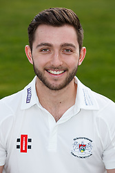 Matt Taylor of Gloucestershire Cricket poses for a headshot in the County Championship kit - Mandatory byline: Rogan Thomson/JMP - 04/04/2016 - CRICKET - Bristol County Ground - Bristol, England - Gloucestershire County Cricket Club Media Day.