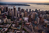 Core of Downtown Seattle & Elliott Bay