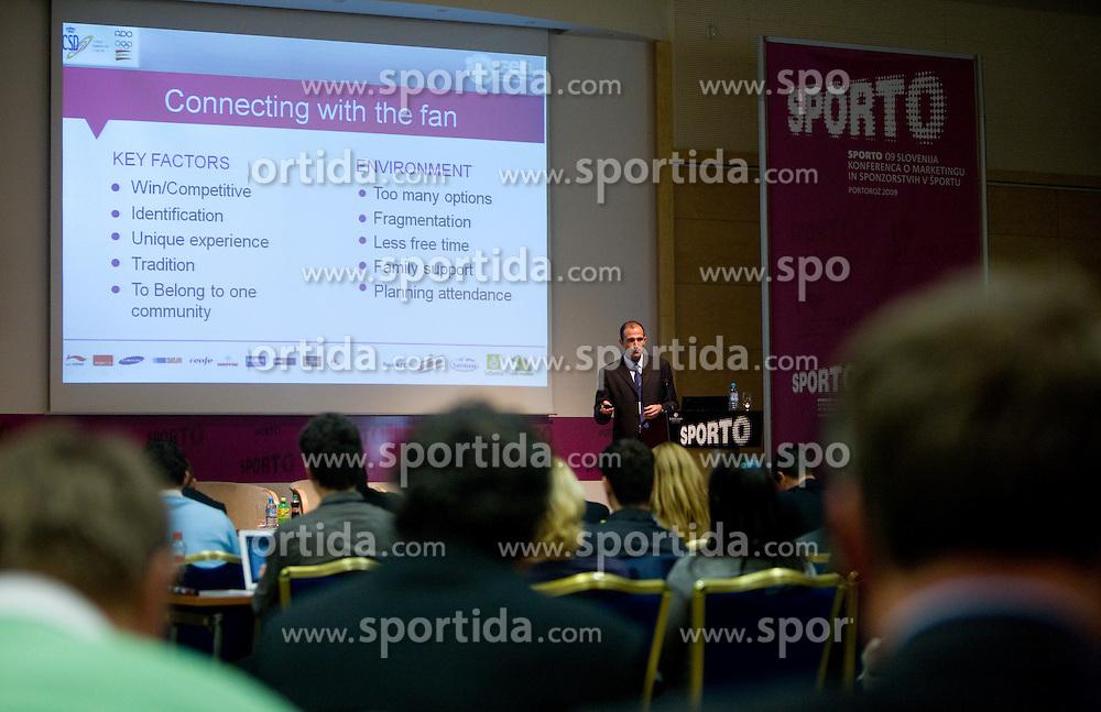 at First day of 6th Sporto conference about Marketing in sport, on November 23, 2009, in Kongresni center Portus, Portoroz-Portorose, Slovenia. (Photo by Vid Ponikvar / Sportida)