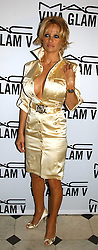 PAMELA ANDERSON at a party to celebrate Pamela Anderson's new role as spokesperson and newest face of the MAC Aids Fund's Viva Glam V Campaign held at Home House, Portman Square, London on 21st April 2005.<br />