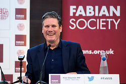 © Licensed to London News Pictures. 13/01/2018. London, UK. Shadow Secretary of State for Exiting the European Union Keir Starmer speaks at the Fabian Society 2018 Conference. The conference title is 'Policy Priorities for the Left'. Photo credit : Tom Nicholson/LNP