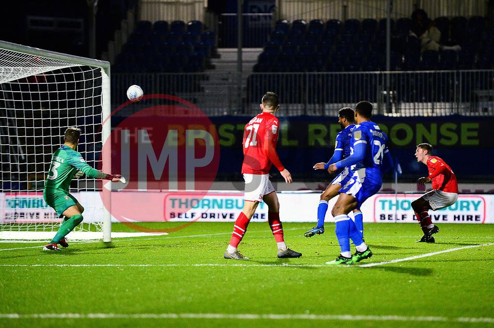 Mark Little of Bristol Rovers scores to make it 1-0 - Mandatory by-line: Dougie Allward/JMP - 13/11/2019 - FOOTBALL - Memorial Stadium - Bristol, England - Bristol Rovers v Swindon Town - Leasing.com Trophy