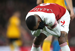Arsenal's Alexandre Lacazette rues a missed chance