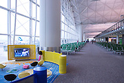 The childrens' TV lounge in Hong Kong airport.