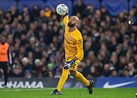 Football - 2019 / 2020 EFL Carabao (League) Cup - Fourth Round: Chelsea vs. Manchester United<br /> <br /> Wilfredo Caballero (Chelsea FC) throws the ball at Stamford Bridge <br /> <br /> COLORSPORT/DANIEL BEARHAM
