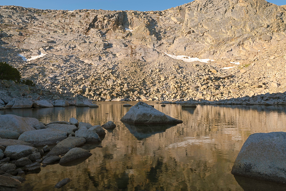Sunrise at Little Valentine Lake, Shoshone National Forest, Wind River Range, Wyoming.