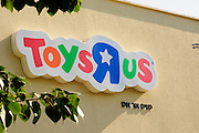 Toy R Us logo logo on shop front Photographed in Tel Aviv, Israel