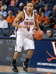 Virginia guard Calvin Baker (4)..The Virginia Cavaliers men's basketball team defeated the Northwestern Wildcats 94-52 at John Paul Jones Arena in Charlottesville, VA on November 27, 2007.