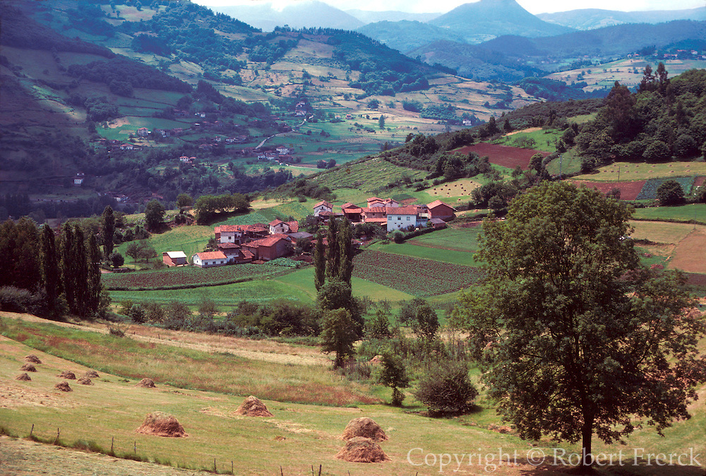 SPAIN, NORTH COAST Cantabrian Mountains villages