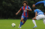 Keshi Anderson playing a forward ball during the U21 Professional Development League match between U21 QPR and U21 Crystal Palace at the Loftus Road Stadium, London, England on 31 August 2015. Photo by Michael Hulf.