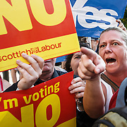 Labour's John Prescott on the campaign trail in Rutherglen.Picture Robert Perry 10th Sept 2014