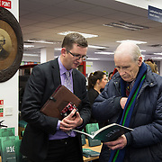 08/12/2015                <br /> Limerick City & County Council launches Ireland 2016 Centenary Programme<br /> <br /> An extensive programme of events across the seven programme strands of the Ireland 2016 Centenary Programme was launched at the Granary Library, Michael Street, Limerick, last night (Monday, 7 December 2015) by Cllr. Liam Galvin, Mayor of the City and County of Limerick.<br /> <br /> Led by Limerick City & County Council and under the guidance of the local 1916 Co-ordinator, the programme is the outcome of consultations with interested local groups, organisations and individuals who were invited to participate in the planning and implementation of events and initiatives during 2016.  <br /> <br /> Pictured at the event were, Gerard Greaney, Footsteps To Freedom and John Leonard, Corbally. Picture: Alan Place