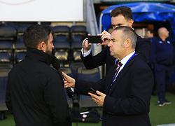 Bristol City head of communications Dave Barton interviews Bristol City manager Lee Johnson - Mandatory by-line: Matt McNulty/JMP - 21/09/2018 - FOOTBALL - DW Stadium - Wigan, England - Wigan Athletic v Bristol City - Sky Bet Championship
