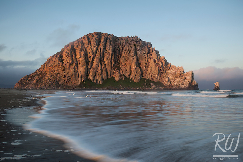 Morro Strand State Beach at Sunrise, Morro Bay, California