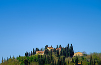 SAN GIMIGNANO, ITALY - CIRCA MAY 2015:  Houses over the hills near San Gimignano in Tuscany
