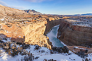 Bighorn Canyon National Recreation Area during iwnter