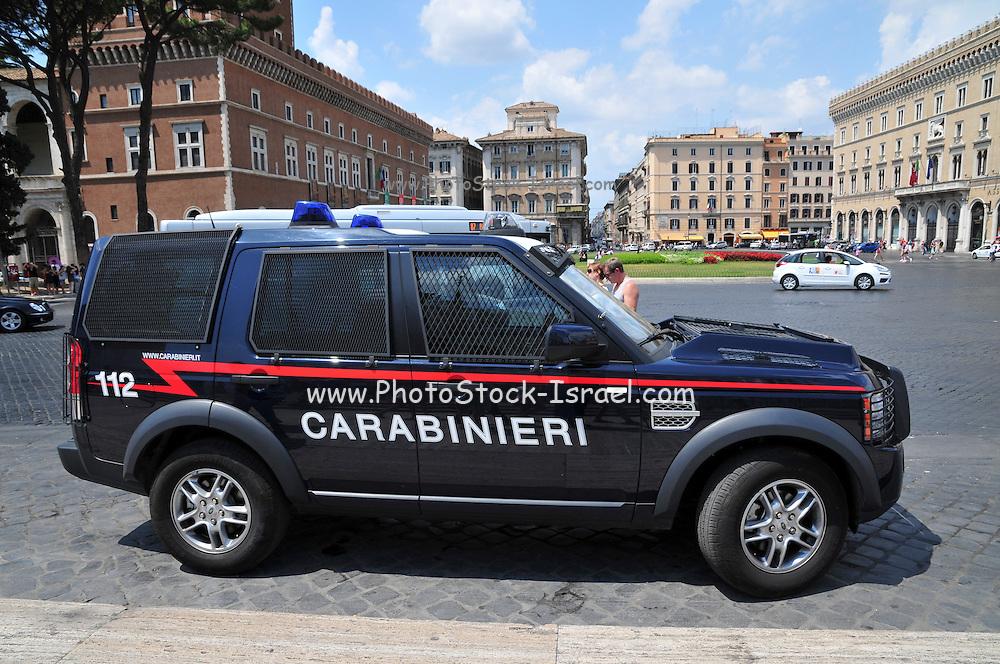 Rome, Italy Police Car
