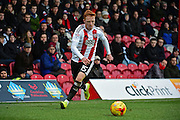 Brentford midfielder Ryan Woods (15) during the EFL Sky Bet Championship match between Brentford and Brighton and Hove Albion at Griffin Park, London, England on 5 February 2017. Photo by Jon Bromley.