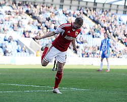 Bristol City's Scott Wagstaff celebrates his goal. - Photo mandatory by-line: Dougie Allward/JMP - Mobile: 07966 386802 22/03/2014 - SPORT - FOOTBALL - Colchester - Colchester Community Stadium - Colchester United v Bristol City - Sky Bet League One