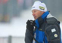 Slovenian coach Uros Velepec at Men 20 km Individual at E.ON Ruhrgas IBU World Cup Biathlon in Hochfilzen (replacement Pokljuka), on December 18, 2008, in Hochfilzen, Austria. (Photo by Vid Ponikvar / Sportida)