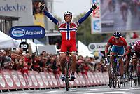 Sykkel<br /> Tour de France 2004<br /> 11.07.2004<br /> Foto: Dppi/Digitalsport<br /> Norway Only<br /> <br /> STAGE 8 - LAMBALLE >  QUIMPER<br /> <br /> THOR HUSHOVD (NOR) / CREDIT AGRICOLE - WINNER
