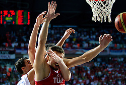 Marko Keselj of Serbia vs Hidayet Turkoglu of Turkey during the second semifinal basketball match between National teams of Serbia and Turkey at 2010 FIBA World Championships on September 11, 2010 at the Sinan Erdem Dome in Istanbul, Turkey. Turkey defeated Serbia 83 - 82 and qualified to finals.  (Photo By Vid Ponikvar / Sportida.com)