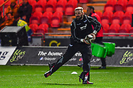 Scarlets' John Barclay during the pre match warm up<br /> <br /> Photographer Craig Thomas/Replay Images<br /> <br /> Guinness PRO14 Round 13 - Scarlets v Dragons - Friday 5th January 2018 - Parc Y Scarlets - Llanelli<br /> <br /> World Copyright &copy; Replay Images . All rights reserved. info@replayimages.co.uk - http://replayimages.co.uk