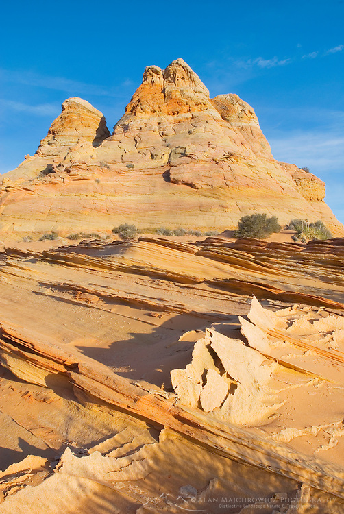 Flakes of cross-bedded sandstone, South Coyote Buttes, Vermilion Cliffs Wilderness Utah