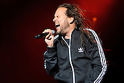 Korn performs on May 15, 2011 at Verizon Wireless Amphitheater in St. Louis, Missouri. © 2011 Todd Owyoung.