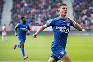 UTRECHT, FC Utrecht - NEC, voetbal, Eredivisie, seizoen 2016-2017, 30-10--2016, Stadion De Galgenwaard, NEC speler Ferdy Kadioglu (R) heeft de 1-1 gescoord.