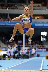 08.03.2014, Ergo Arena, Sopot, POL, IAAF, Leichtathletik Indoor WM, Sopot 2014, im Bild skok w dal, long jump, Erica Jarder (SWE) // skok w dal, long jump, Erica Jarder (SWE)  during day two of IAAF World Indoor Championships Sopot 2014 at the Ergo Arena in Sopot, Poland on 2014/03/08. EXPA Pictures © 2014, PhotoCredit: EXPA/ Newspix/ Tomasz Jastrzebowski<br /> <br /> *****ATTENTION - for AUT, SLO, CRO, SRB, BIH, MAZ, TUR, SUI, SWE only*****