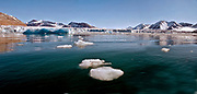 King's Glacier in King's Fjord, western Spitsbergen, Svaalbard