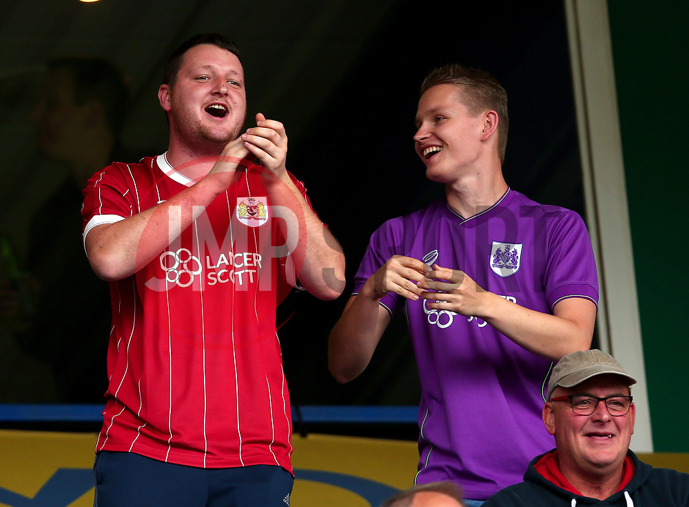 Bristol City fans at Birmingham City - Mandatory by-line: Robbie Stephenson/JMP - 12/08/2017 - FOOTBALL - St Andrew's Stadium - Birmingham, England - Birmingham City v Bristol City - Sky Bet Championship
